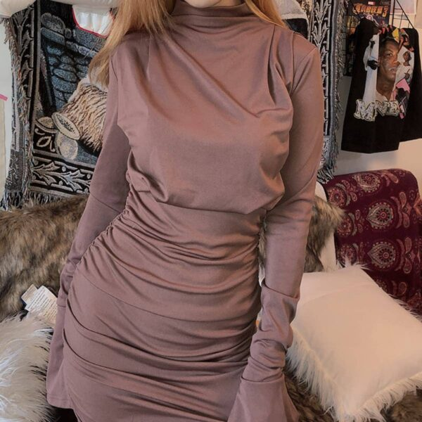 French Niche Copper Rose Dress 2 - Orezoria Aesthetic Outfits Shop - Aesthetic Clothing - eGirl Outfits - Soft Girl Outfits.psd