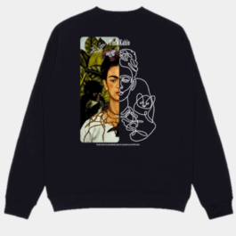 Frida Kahlo Sketch Sweatshirt 1- Orezoria Aesthetic Outfits Shop - Aesthetic Clothing - eGirl Outfits - Soft Girl Outfits