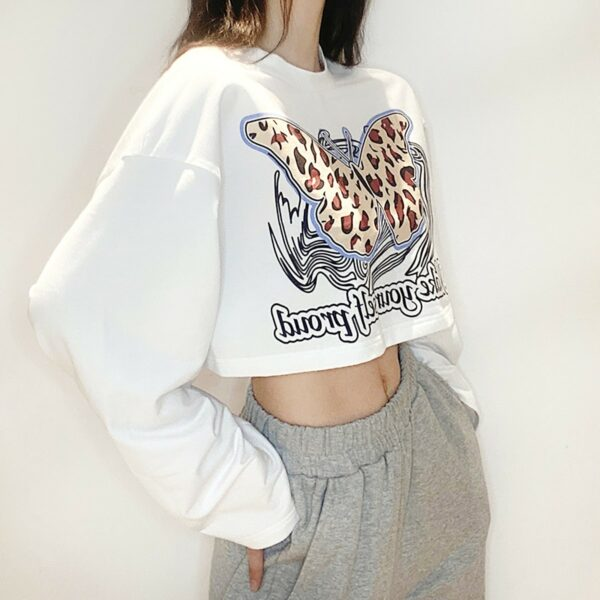 Gepard Butterfly Wings Sweatshirt 2- Orezoria Aesthetic Outfits Shop - Aesthetic Clothing - eGirl Outfits - Soft Girl Outfits