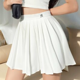 Goth Font M Letter Pleated EGirl Skirt (1)- Orezoria Aesthetic Outfits Shop - Aesthetic Clothing - eGirl Outfits - Soft Girl Outfits