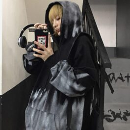 Gray Warden Ombre Core Aesthetic Hoodie 1 - Orezoria Aesthetic Outfits Shop - Aesthetic Clothing - eGirl Outfits - Soft Girl Outfits