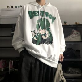 Green Destboy Retro Anime Hoodie 3- Orezoria Aesthetic Outfits Shop - Aesthetic Clothing - eGirl Outfits - Soft Girl Outfits