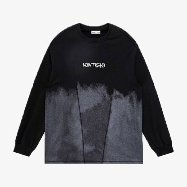 Grunge Gradient Long Sleeve Pullover 1- Orezoria Aesthetic Outfits Shop - Aesthetic Clothing - eGirl Outfits - Soft Girl Outfits
