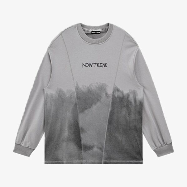 Grunge Gradient Long Sleeve Pullover 3- Orezoria Aesthetic Outfits Shop - Aesthetic Clothing - eGirl Outfits - Soft Girl Outfits