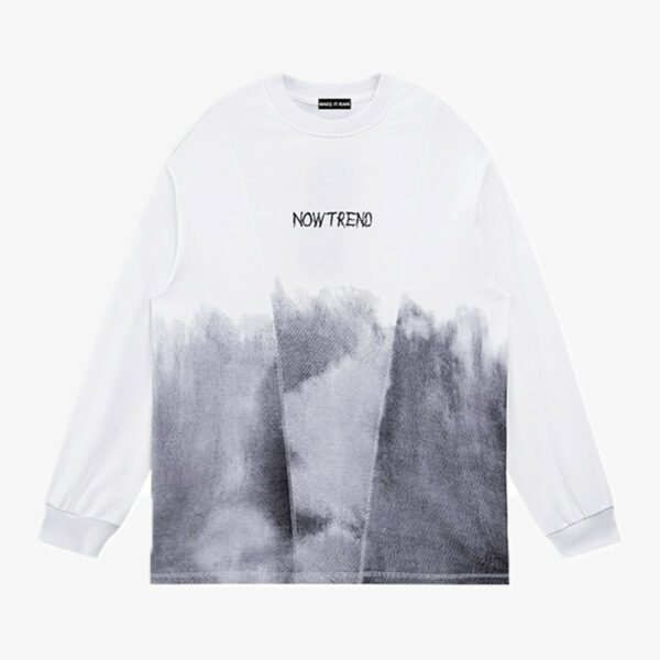 Grunge Gradient Long Sleeve Pullover 5- Orezoria Aesthetic Outfits Shop - Aesthetic Clothing - eGirl Outfits - Soft Girl Outfits
