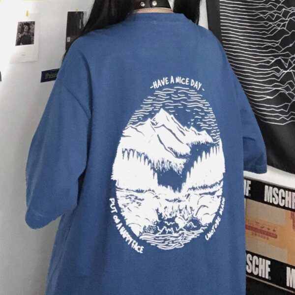 Have a Nice Day Mountains T-Shirt 2 -Orezoria Aesthetic Outfits Shop - Aesthetic Clothing - eGerl Outfits Soft Gerl Outfits.spd