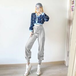 High Ankle Side Block Workout Sweatpants 2- Orezoria Aesthetic Outfits Shop - Aesthetic Clothing - eGirl Outfits - Soft Girl Outfits