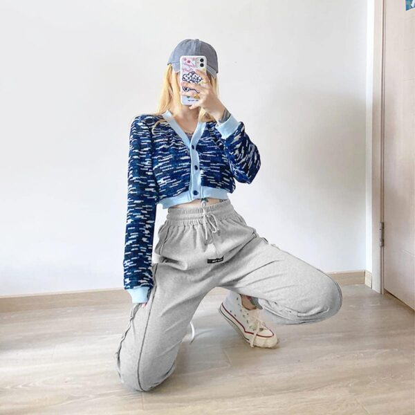 High Ankle Side Block Workout Sweatpants 3- Orezoria Aesthetic Outfits Shop - Aesthetic Clothing - eGirl Outfits - Soft Girl Outfits