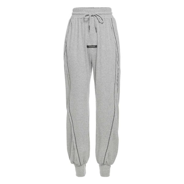 High Ankle Side Block Workout Sweatpants 4- Orezoria Aesthetic Outfits Shop - Aesthetic Clothing - eGirl Outfits - Soft Girl Outfits