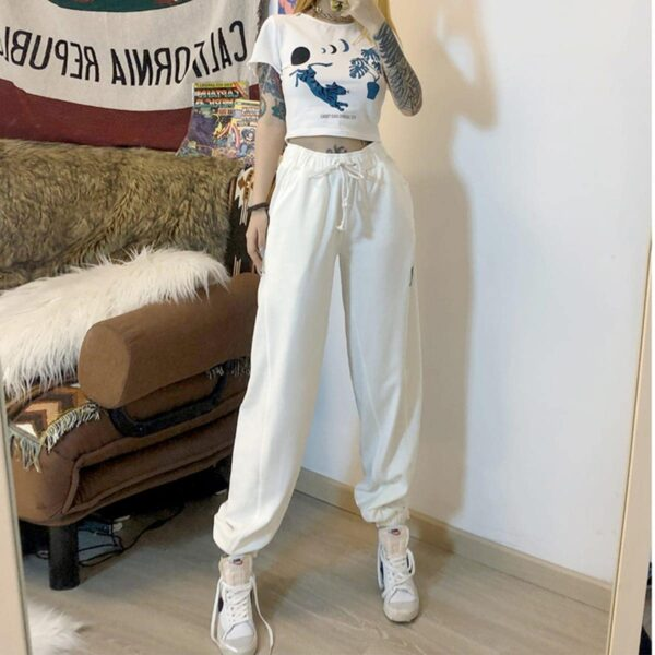 High Waist Soft Loose Jazz Pants 1- Orezoria Aesthetic Outfits Shop - Aesthetic Clothing - eGirl Outfits - Soft Girl Outfits