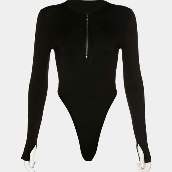 High Waist Zip Chest Black Baddie Bodysuit 22 - Orezoria Aesthetic Outfits Shop - Aesthetic Clothing - eGirl Outfits - Soft Girl Outfits.psd