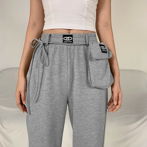 High Waisted Gray Pouch Sport Pants - Orezoria Aesthetic Outfits Shop - Aesthetic Clothing - eGirl Outfits - Soft Girl (4)