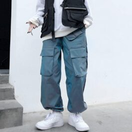 Holo Ombre Wide Ulzzang Cargo Pants 1 - Orezoria Aesthetic Outfits Shop - Aesthetic Clothing - eGirl Outfits - Soft Girl Outfits