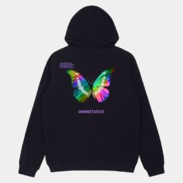Holographic Butterfly Oversized Hoodie 1 - Orezoria Aesthetic Outfits Shop - Aesthetic Clothing - eGirl Outfits - Soft Girl Outfits