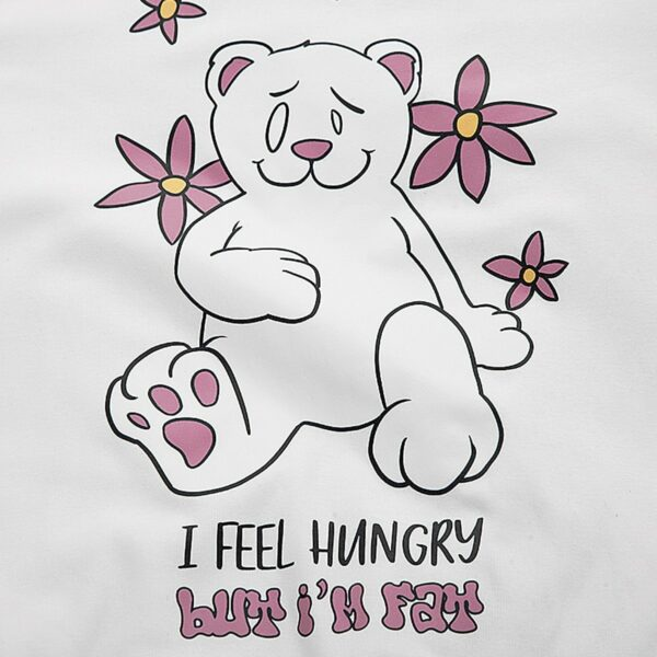 I Feel Hungry But I'm Fat Loose Long Sleeve 4 - Orezoria Aesthetic Outfits Shop - Aesthetic Clothing - eGirl Outfits - Soft Girl Outfits