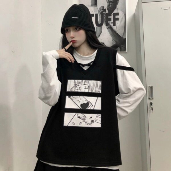 I Hate When You Leave Anime Vest - Orezoria Aesthetic Outfits Shop - Aesthetic Clothing - eGirl Outfits - Soft Girl Outfits.psd