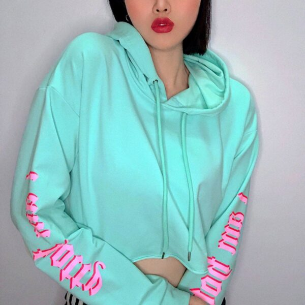 I am Hotty Sleeve Print Azure Crop Top - Orezoria Aesthetic Outfits Shop - Aesthetic Clothing - eGirl Outfits - Soft Girl Outfits.psd