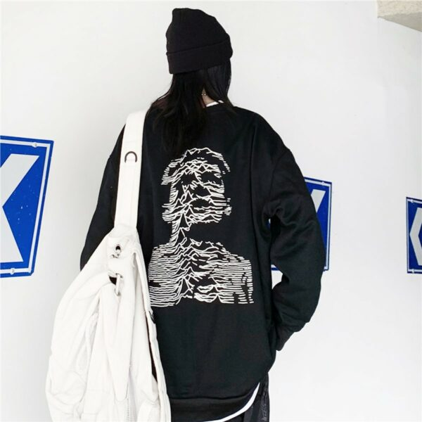 Ian Curtis Unknown Pleasures Sweatshirt 1- Orezoria Aesthetic Outfits Shop - Aesthetic Clothing - eGirl Outfits - Soft Girl Outfits