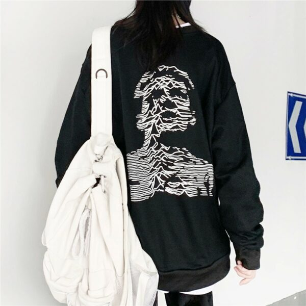 Ian Curtis Unknown Pleasures Sweatshirt 3- Orezoria Aesthetic Outfits Shop - Aesthetic Clothing - eGirl Outfits - Soft Girl Outfits