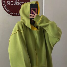 Inner Contrast Color Oversized Hoodie 1 - Orezoria Aesthetic Outfits Shop - Aesthetic Clothing - eGirl Outfits - Soft Girl Outfits