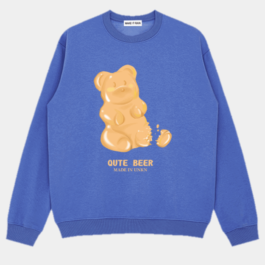 Jelly Bear Crew Oversized Sweatshirt 2- Orezoria Aesthetic Outfits Shop - Aesthetic Clothing - eGirl Outfits - Soft Girl Outfits