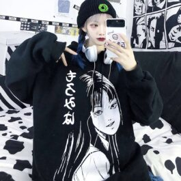 Junji Ito Horror Manga Aesthetic Hoodie 1 - Orezoria Aesthetic Outfits Shop - Aesthetic Clothing - eGirl Outfits - Soft Girl Outfits