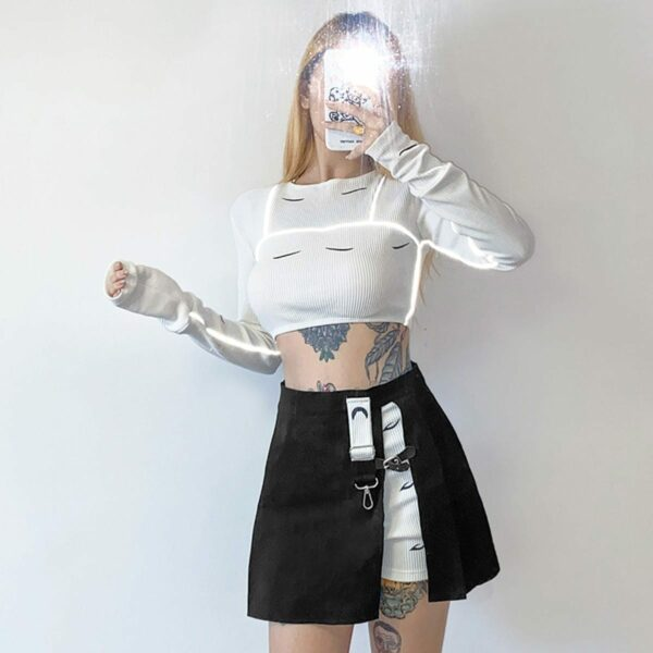 Layered Retro Contrast Hakama Skirt 2 - Orezoria Aesthetic Outfits Shop - Aesthetic Clothing - eGirl Outfits - Soft Girl Outfits