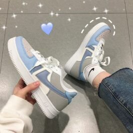 Light Cobalt Blue Aesthetic Sneakers 2- Orezoria Aesthetic Outfits Shop - Aesthetic Clothing - eGirl Outfits - Soft Girl Outfits