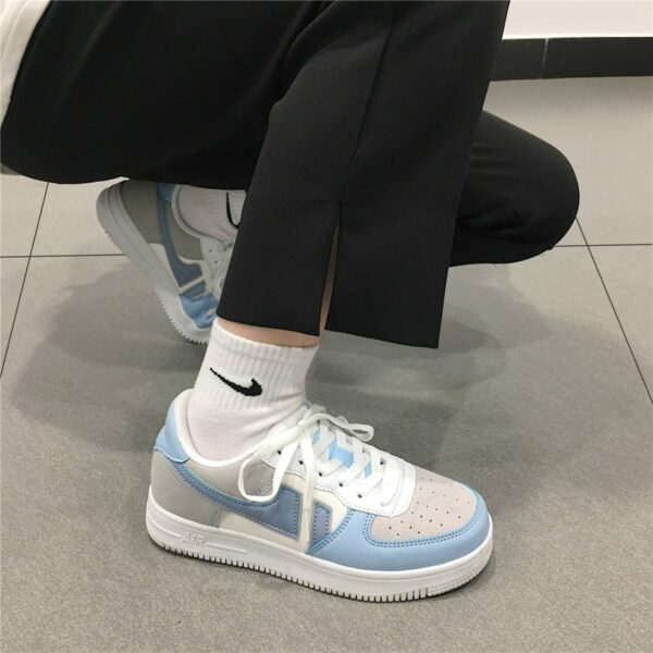 Light Cobalt Blue Aesthetic Sneakers 4- Orezoria Aesthetic Outfits Shop - Aesthetic Clothing - eGirl Outfits - Soft Girl Outfits