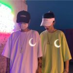 Light Reflective Crescent Moon Tribal Tee 3- Orezoria Aesthetic Outfits Shop - Aesthetic Clothing - eGirl Outfits - Soft Girl Outfits