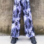 Lightning Print Grunge Aesthetic Wide Pants 2- Orezoria Aesthetic Outfits Shop - Aesthetic Clothing - eGirl Outfits - Soft Girl Outfits