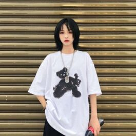 Limbo Bear Oversized Korean T-Shirt.1- Orezoria Aesthetic Outfits Shop - Aesthetic Clothing - eGirl Outfits - Soft Girl Outfits