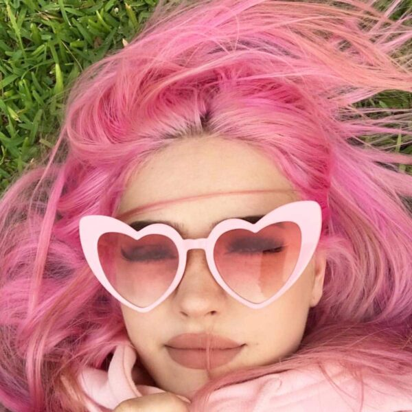 Lolita Pink Heart Shaped Glasses (6)- Orezoria Aesthetic Outfits Shop - Aesthetic Clothing - eGirl Outfits - Soft Girl Outfits