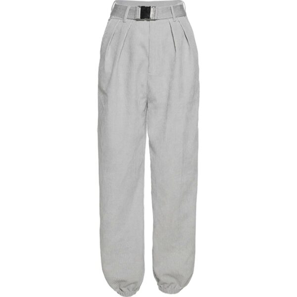 Loose High Waist Gray Jazz Pants 3- Orezoria Aesthetic Outfits Shop - Aesthetic Clothing - eGirl Outfits - Soft Girl Outfits