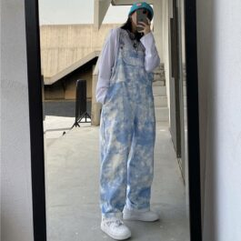 Loose Light Blue Milky Tie Dye Overall 1 - Orezoria Aesthetic Outfits Shop - Aesthetic Clothing - eGirl Outfits - Soft Girl Outfits.psd