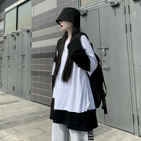 Loose Two Piece Irregular Long Sleeve - Orezoria Aesthetic Outfits Shop - Aesthetic Clothing - eGirl Outfits - Soft Girl Outfits.psd