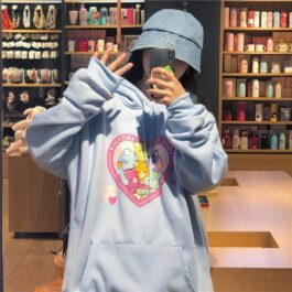 Love One Another Care Bears Cute Hoodie 1 - Orezoria Aesthetic Outfits Shop - Aesthetic Clothing - eGirl Outfits - Soft Girl Outfits