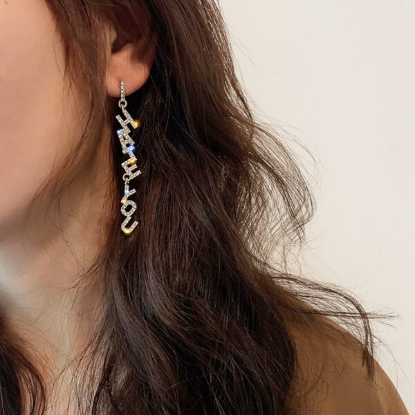 Love You Hate You Earrings Korean Grunge Style 1- Orezoria Aesthetic Outfits Shop - Aesthetic Clothing - eGirl Outfits - Soft Girl Outfits (1)