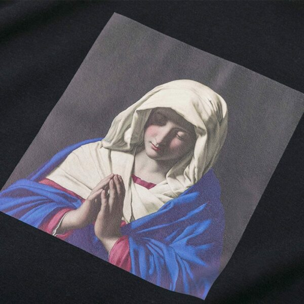 Mary Was The First Disciple Black Hoodie 2 - Orezoria Aesthetic Outfits Shop - Aesthetic Clothing - eGirl Outfits - Soft Girl Outfits