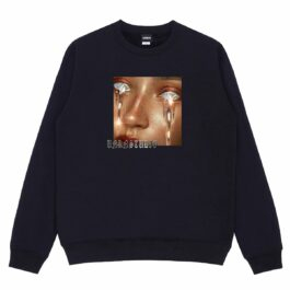 Melted Gold Glitter Eyes Cry Sweatshirt 2 - Orezoria Aesthetic Outfits Shop - Aesthetic Clothing - eGirl Outfits - Soft Girl Outfits
