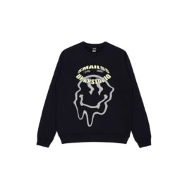 Melted Smiley Hip Hop Sweatshirt - Orezoria Aesthetic Outfits Shop - Aesthetic Clothing - eGirl Outfits - Soft Girl Outfits.psd