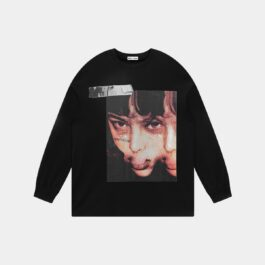 Merged Face Korean Grunge Sweatshirt 2 2