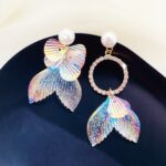 Mermaid Tail Aesthetic Earrings 1- Orezoria Aesthetic Outfits Shop - Aesthetic Clothing - eGirl Outfits - Soft Girl Outfits (1)