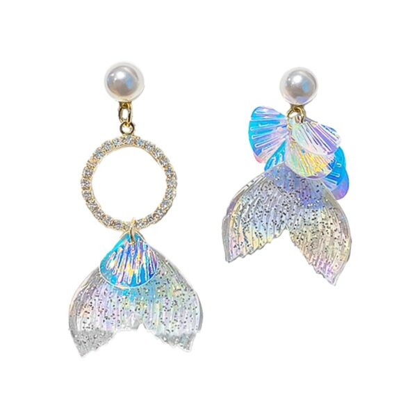 Mermaid Tail Aesthetic Earrings 1- Orezoria Aesthetic Outfits Shop - Aesthetic Clothing - eGirl Outfits - Soft Girl Outfits (2)