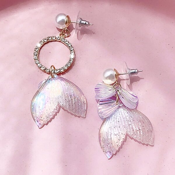 Mermaid Tail Aesthetic Earrings 1- Orezoria Aesthetic Outfits Shop - Aesthetic Clothing - eGirl Outfits - Soft Girl Outfits (3)