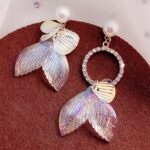 Mermaid Tail Aesthetic Earrings 1- Orezoria Aesthetic Outfits Shop - Aesthetic Clothing - eGirl Outfits - Soft Girl Outfits (4)