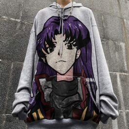 Misato Katsuragi Evangelion Hoodie 4 - Orezoria Aesthetic Outfits Shop - Aesthetic Clothing - eGirl Outfits - Soft Girl Outfits.psd