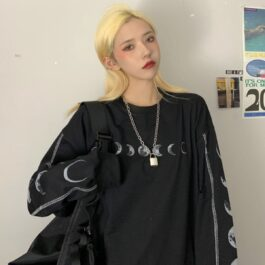 Moon Cycle Outer Stitches Sweatshirt 2- Orezoria Aesthetic Outfits Shop - Aesthetic Clothing - eGirl Outfits - Soft Girl Outfits