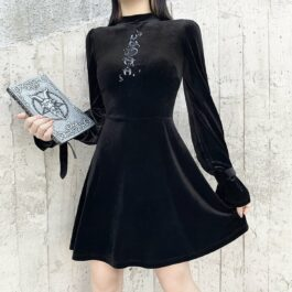 Moon Spell Witch Core Aesthetic Dress 1- Orezoria Aesthetic Outfits Shop - Aesthetic Clothing - eGirl Outfits - Soft Girl Outfits