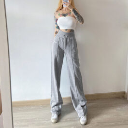 My Baby Made It Vertical Line Sweatpants.1- Orezoria Aesthetic Outfits Shop - Aesthetic Clothing - eGirl Outfits - Soft Girl Outfits